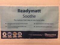 Dreams Readymatt Double Mattress: memory foam topped 1000 springs £30 RRP £200 must go by 31/08