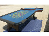 Full Size John Huxley American Roulette Table, in good condition.