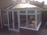 conservatory 3.5 X 3.9 White upvc