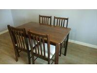 Table & 4 Chairs for sale £30.00 o.n.o