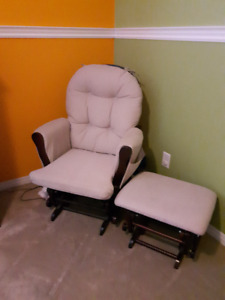 Baby Rocking Chair with Ottoman