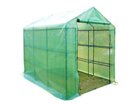 Large Walk in Garden Greenhouse with Shelves (without Cover)