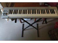 M-Audio Keystation 61es MIDI Controller, + keyboard stand + sustain pedal