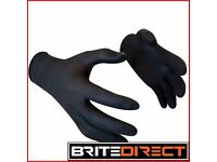100x Tattoo Black S,M,L,XL Nitrile gloves Higest Quality, Latex and powder free, mechanic vet