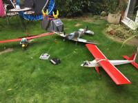 3 RC Nitro plane collection and extras