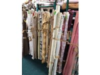 5 rolls of fabric ruffly 25 Metres altogether