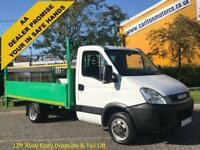 2011/ 61 Iveco Daily 2.3TD 35C13 Mwb Dropside+T/Lift 12ft Alloy Body DRW