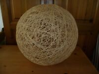 Wicker ball style lampshade