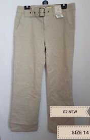 Ladies size 14 trousers new