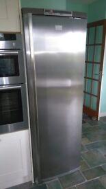 Fridge - tall larder type, AEG Santo, stainless steel.