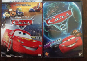 Disney's Cars and Cars 2 dvds