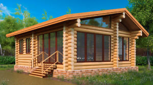Log Cabin (cottage) 570sqf