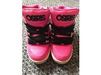Pink Osiris trainers size 5