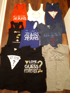 Guess tank and t-shirt lot sz med