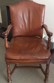 Pair of chic leather armchairs, but 1 buy both. Ralph Lauren style. For home or office.