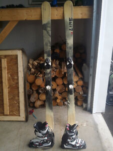 Line Prophet Skis and Salomon Boots