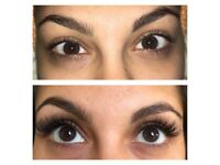 Semi pernament eyelash extension