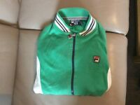 Fila green and white zip up top