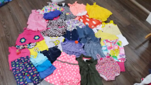 Large lot of girls 12month summer clothing