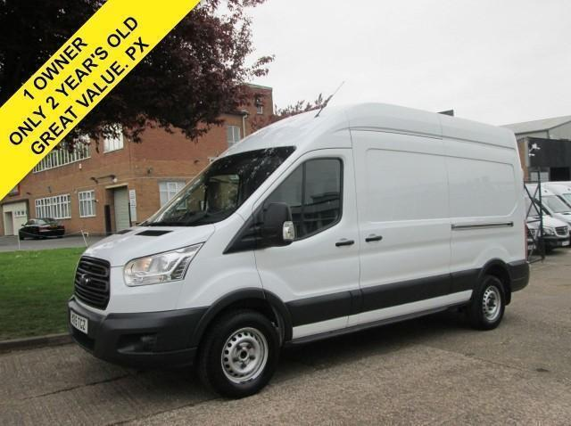 2015 15-REG FORD TRANSIT 2.2 350 LWB HIGH ROOF 125 BHP. NEW SHAPE. 1 OWNER. PX