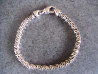 As New Unisex Helix Link Bracelet 925 Silver