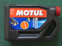 Motul 5000 10W40 4T semi-synthetic motorcycle engine oil, 4 litres, £22