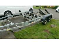 Boat trailer 3 tone 4 wheeled roller coaster
