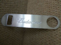 Breweriana man cave - Budweiser bar blade bottle openner and Spaghetti measure Pub memorabilia