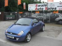 2003 FORD STREET KA 1.6 8V LUXURY PETROL 2 DOOR CONVERTIBLE IN VERY GOOD COND