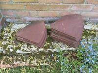 14 Bonnet roof hip tiles.