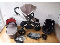 iCandy Peach Jogger All Terrain pram travel system 3 in 1 - Sneaker grey /pink CAN POST