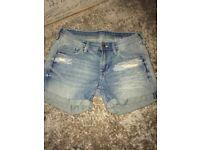 Children's denim shorts girls, size 13 years never worn.