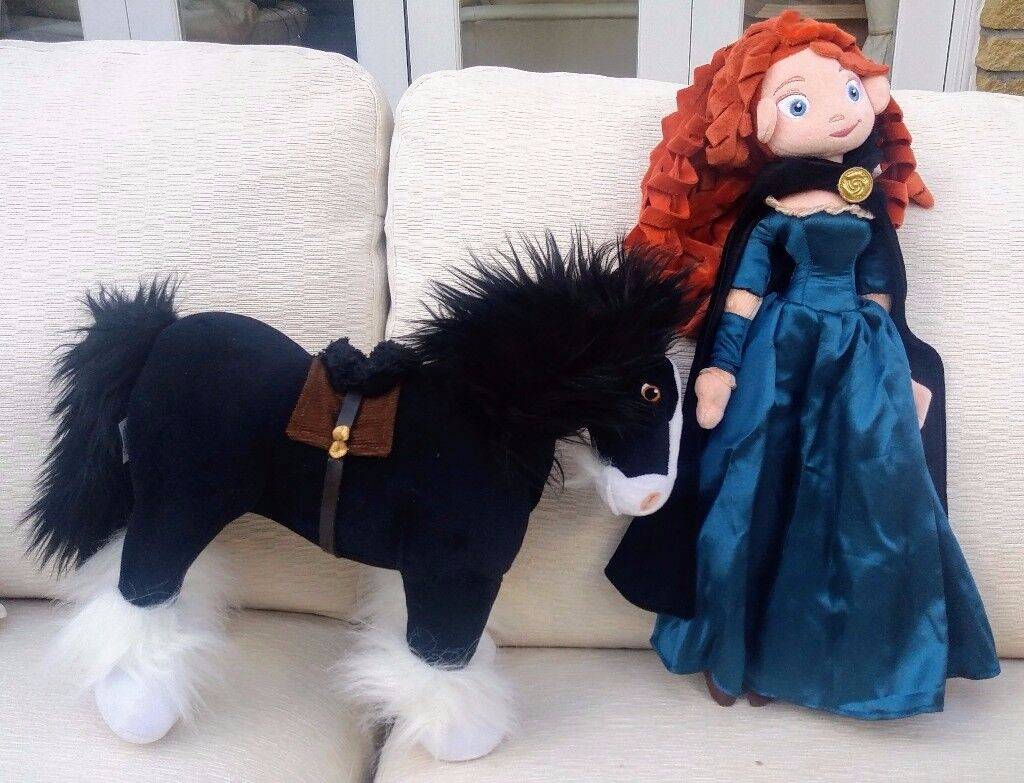 """merida and angus plush toys from the disney film """"brave"""" - new 