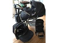 Silvercross baby car seat and isofix base