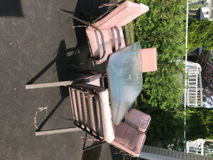 Outdoor table and chairs set