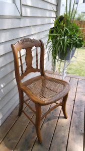Petite Antique Caned Chair