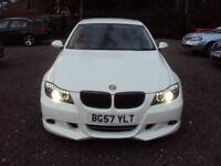 BMW 3 SERIES 330i SE 6 SPEED AUTO 2007 MSPORT KIT WHITE XENONS WITH ANGEL EYES F.S.H LONG MOT EXTRAS