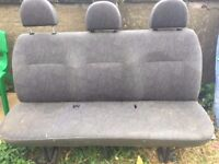 FORD TRANSIT REAR 3 SEATER BENCH. CAN BE INSTALLED IN ANY TRANSIT VAN OR MAYBE OTHERS. SELLING CHEAP