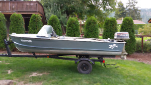 14 ft aluminum fishing boat  swap/trade