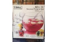 Punch Bowl and Glasses Set