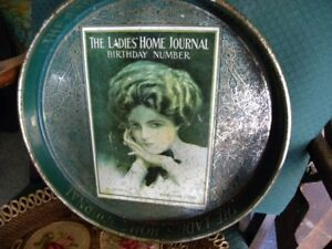 BEER TRAY LADIES HOME JOURNAL BIRTHDAY NUMBER CURTIS 10 CENTS