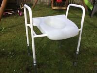 Disability toilet aid frame