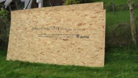 2 x 2400 x 1200 x 18mm OSB, Sterling Board / Norbord. Plus a Quantity of Large Cuttings