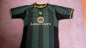 Norwich City FC Football Shirt, Lotus Cars away kit, Size Adult M NCFC OTBC