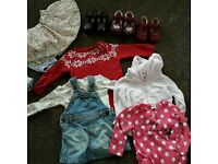 Baby girls 6-9 months bundle and shoe bundle
