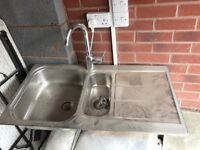 Sink with Hansgrohe tap