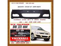 VAUXHALL ASTRA SRI SXI FRONT BUMPER NEW NEW 2005 2006 2007 NEW ( READY TO PAINT )