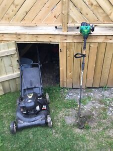 Lawn mower - weed eater combo