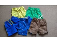 5 pairs of boys shorts in size 12-18 months, great condition, smoke and pet free house