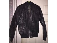 Black genuine leather jackets